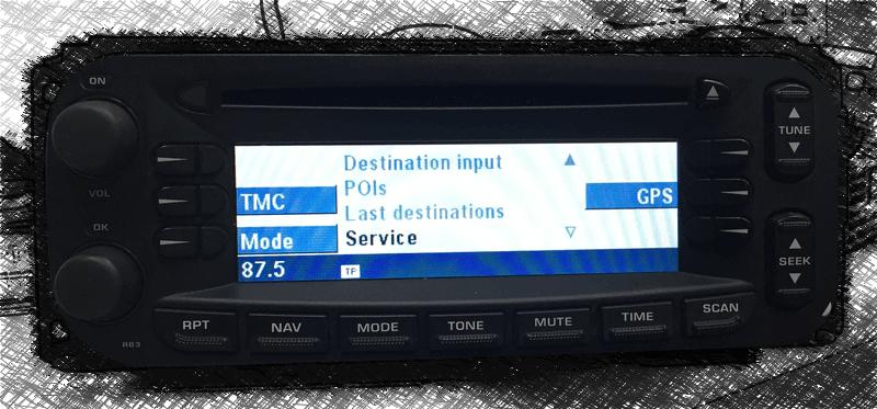 Naprawa nawigacji Chrysler RB3 BE6802
