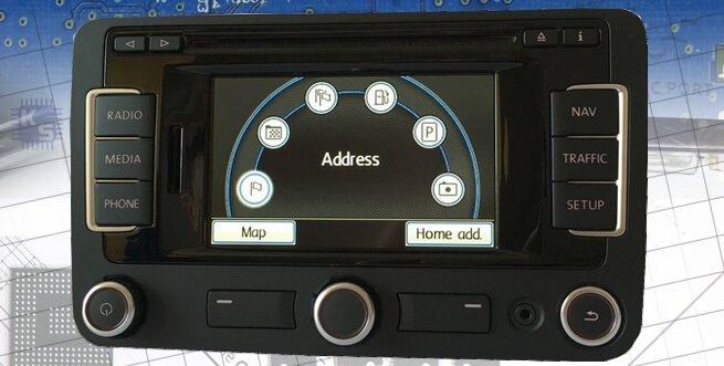 Naprawa nawigacji VW Seat Skoda RNS 315