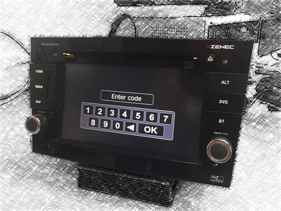 Odkodwoanie Zenec ZE-NC5011D
