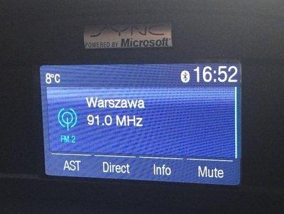 ford escape polskie menu