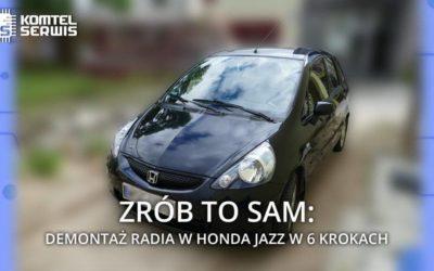 Demontaż radia w Honda Jazz