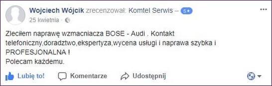 Skuteczna naprawa Bose 2