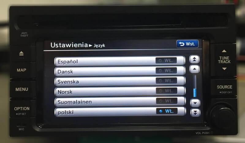 Polskie menu w QY-5017H-A