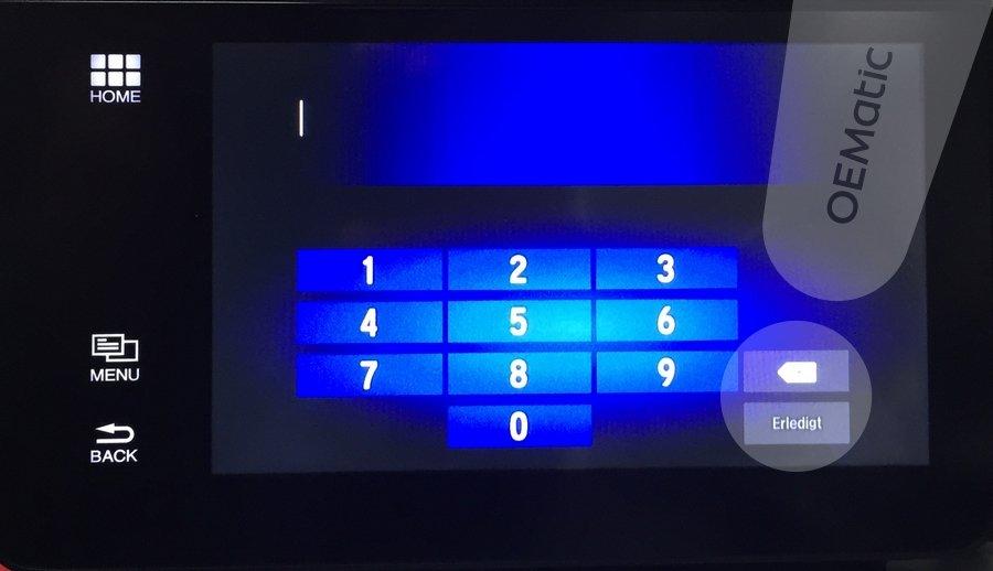 Odczyt kodu w nawigacji Fujitsu Ten
